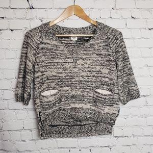 Wilfred Aritzia Gray Cropped Sweater y2k Trendy
